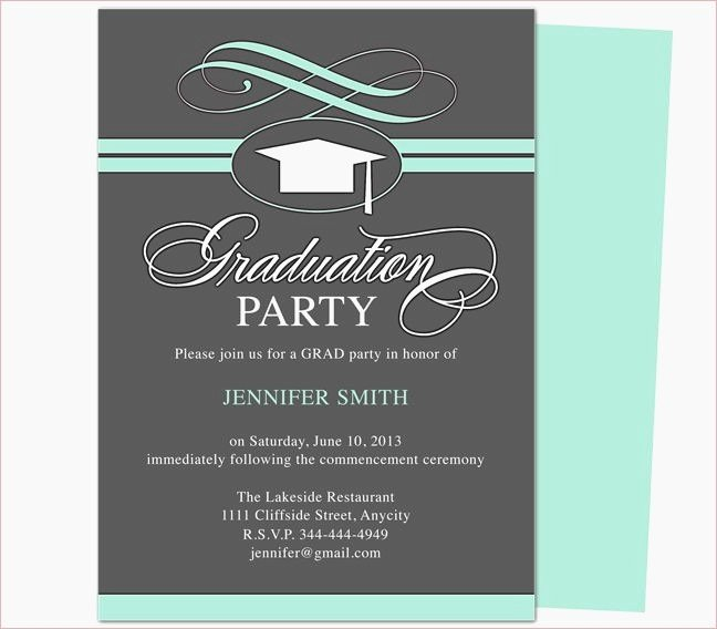 Free Graduation Templates for Word Beautiful Free Graduation Invitation Templates for Word 2018