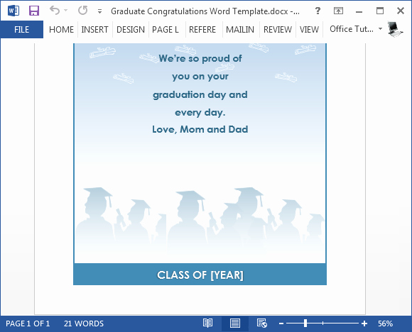 Free Graduation Templates for Word Inspirational Free Graduation Congratulations Card Template for Word
