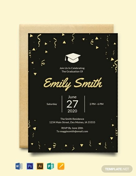 Free Graduation Templates for Word Lovely Free Graduation Invitation Template Word