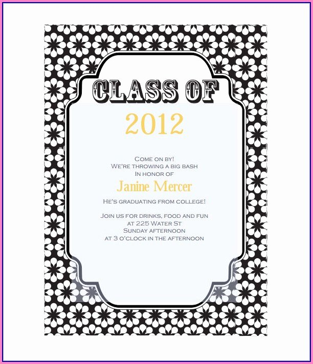 Free Graduation Templates for Word Lovely Graduation Invitation Cards Templates Template Resume