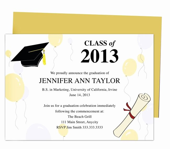 Free Graduation Templates for Word Lovely Printable Diy Templates for Grad Announcements Partytime