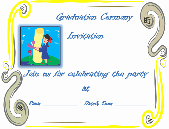 Free Graduation Templates for Word Unique Free Party Invitation Templates formats Examples In