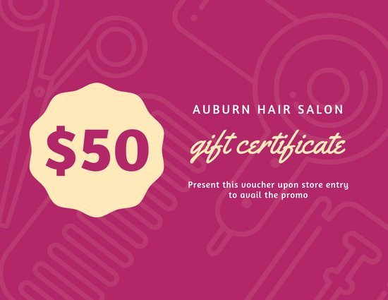 Free Haircut Certificate Template Fresh Customize 52 Hair Salon Gift Certificate Templates Online