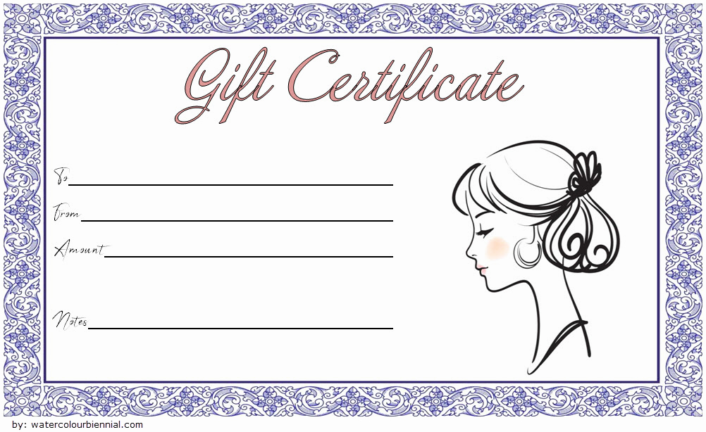 Free Haircut Certificate Template Inspirational 8 Free Printable Hair Salon Gift Certificate Template Ideas