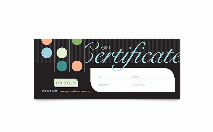 Free Haircut Certificate Template Luxury Beauty & Hair Salon Gift Certificate Template Design