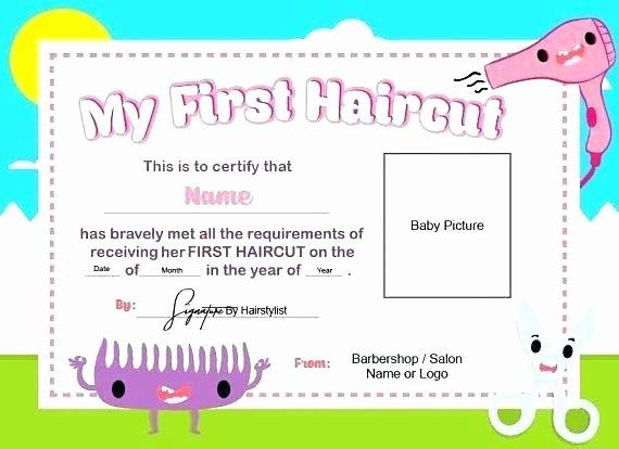 Free Haircut Certificate Template Luxury Haircut Template