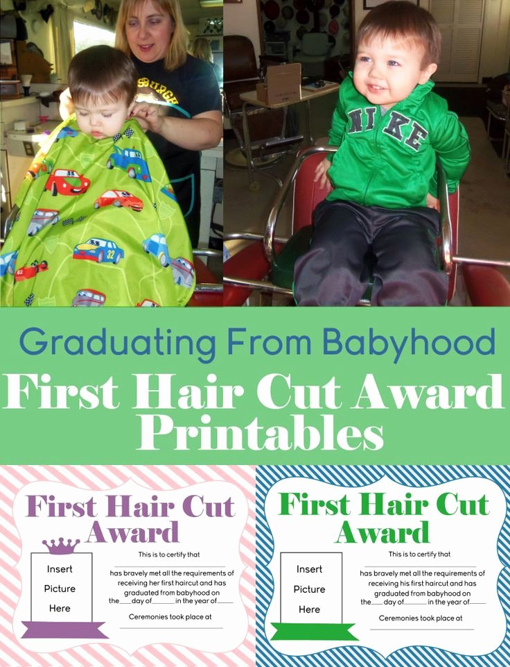Free Haircut Certificate Template Unique Free First Hair Cut Award Printables