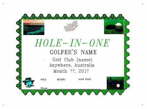 Free Hole In One Certificate Template Awesome Posters Personalized Award Certificate 216 X 279