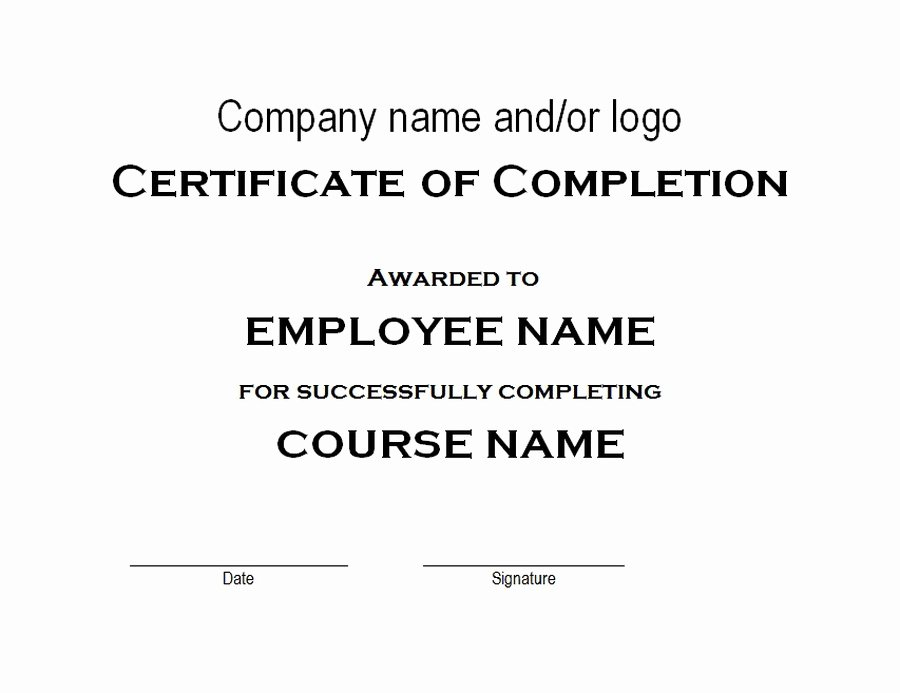 Free Hole In One Certificate Template Luxury Certificate Of Pletion