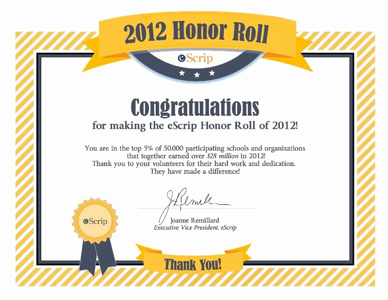 Free Honor Roll Certificate Lovely 5 8 13 News From Olg School