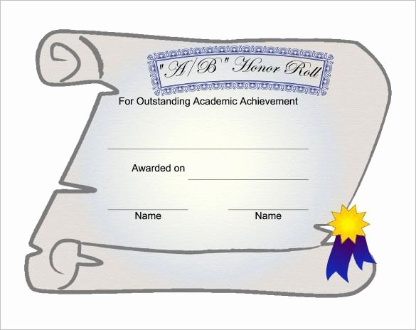 Free Honor Roll Certificate New 9 Printable Honor Roll Certificate Templates – Free Word