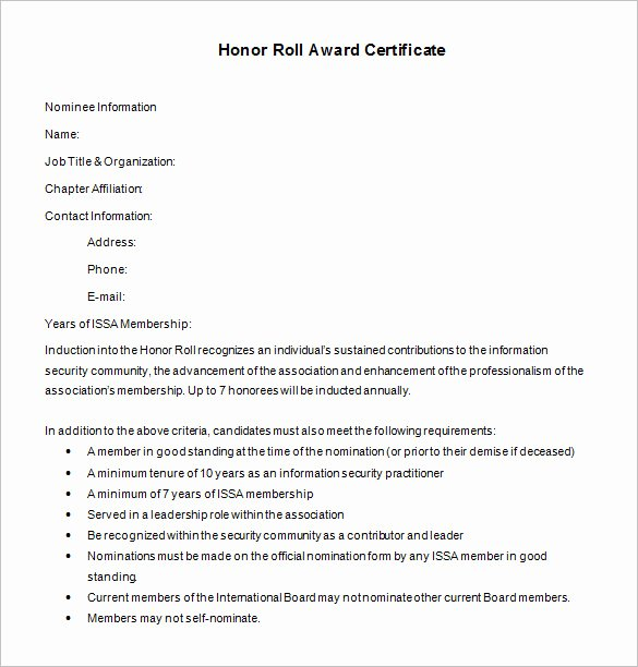 Free Honor Roll Certificate Template Fresh 8 Printable Honor Roll Certificate Templates & Samples