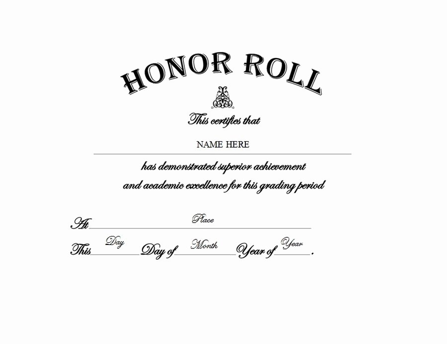 Free Honor Roll Certificate Template Luxury Diploma Free Templates Clip Art & Wording