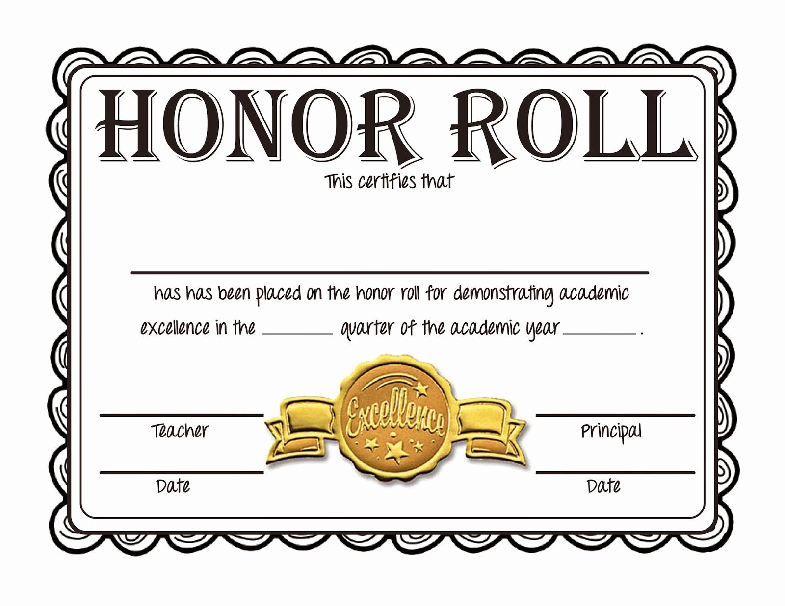 new freebie honor roll certificates