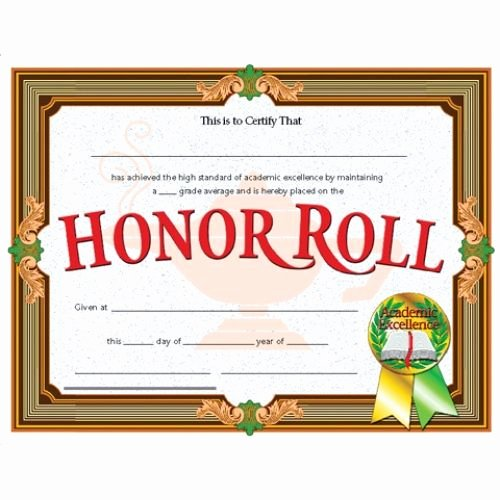 Free Honor Roll Certificate Templates Elegant Honor Roll Award Reward Your Students for their Special