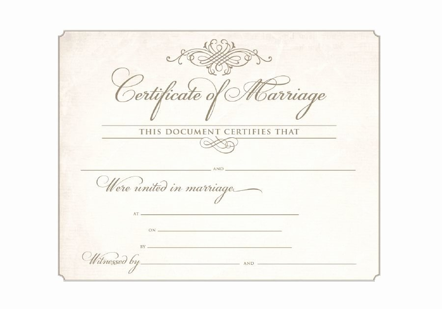 Free Marriage Certificate Download Beautiful Download Blank Marriage Certificates
