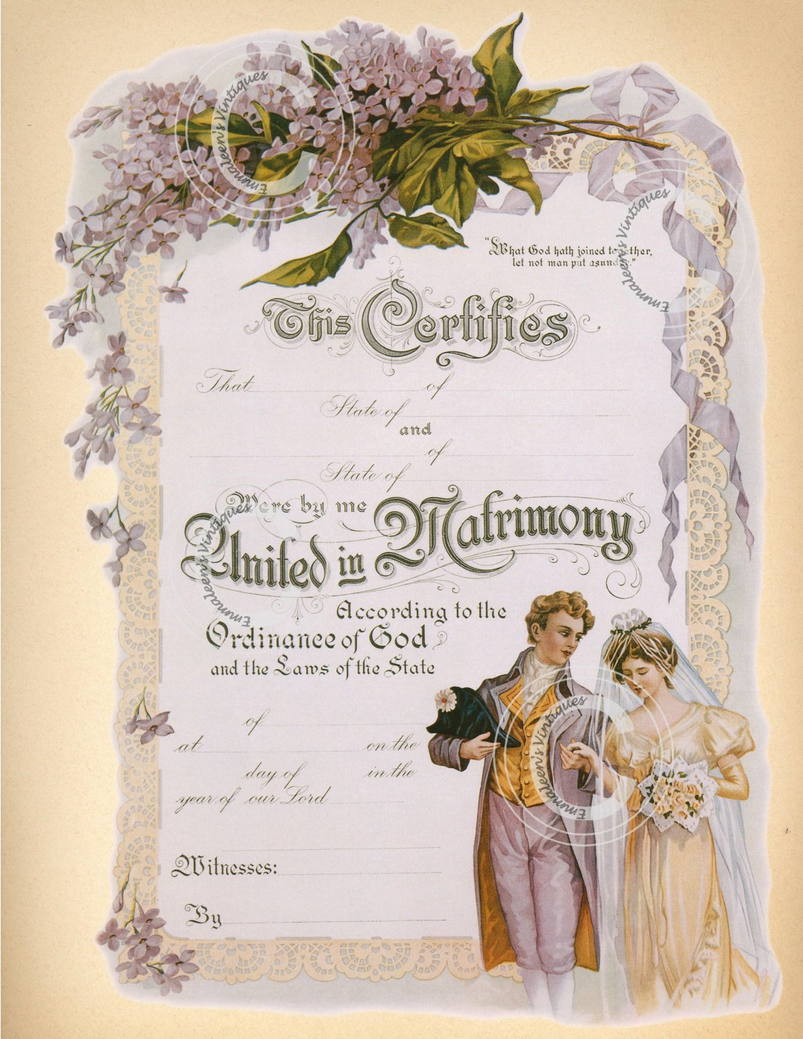 Free Marriage Certificate Download Best Of Vintage Marriage Certificate Digital Image by