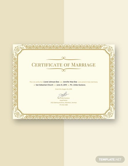 Free Marriage Certificate Download Elegant Free Marriage Certificate Template Download 232