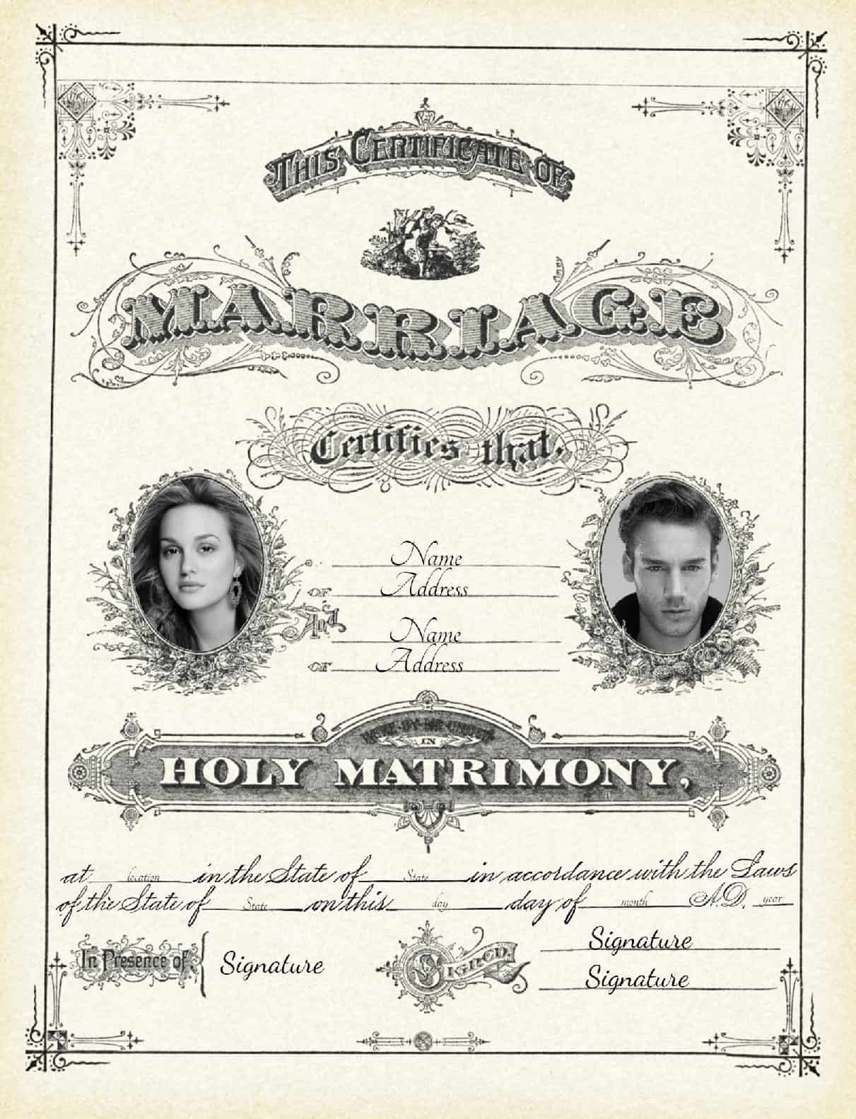 Free Marriage Certificate Download Elegant Free Marriage Certificate Template