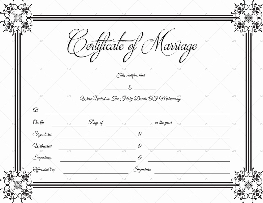 Free Marriage Certificate Download Fresh Suave Marriage Certificate format for Word