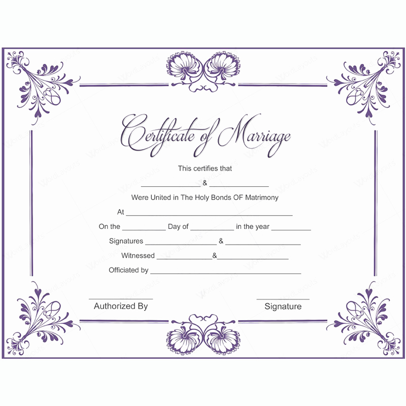 Free Marriage Certificate Download Lovely 5 Plus Adorable Blank Marriage Certificate Designs for Word