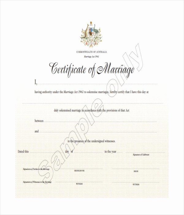 Free Marriage Certificate Download Unique 15 Certificate Templates Free Word Pdf Documents Download