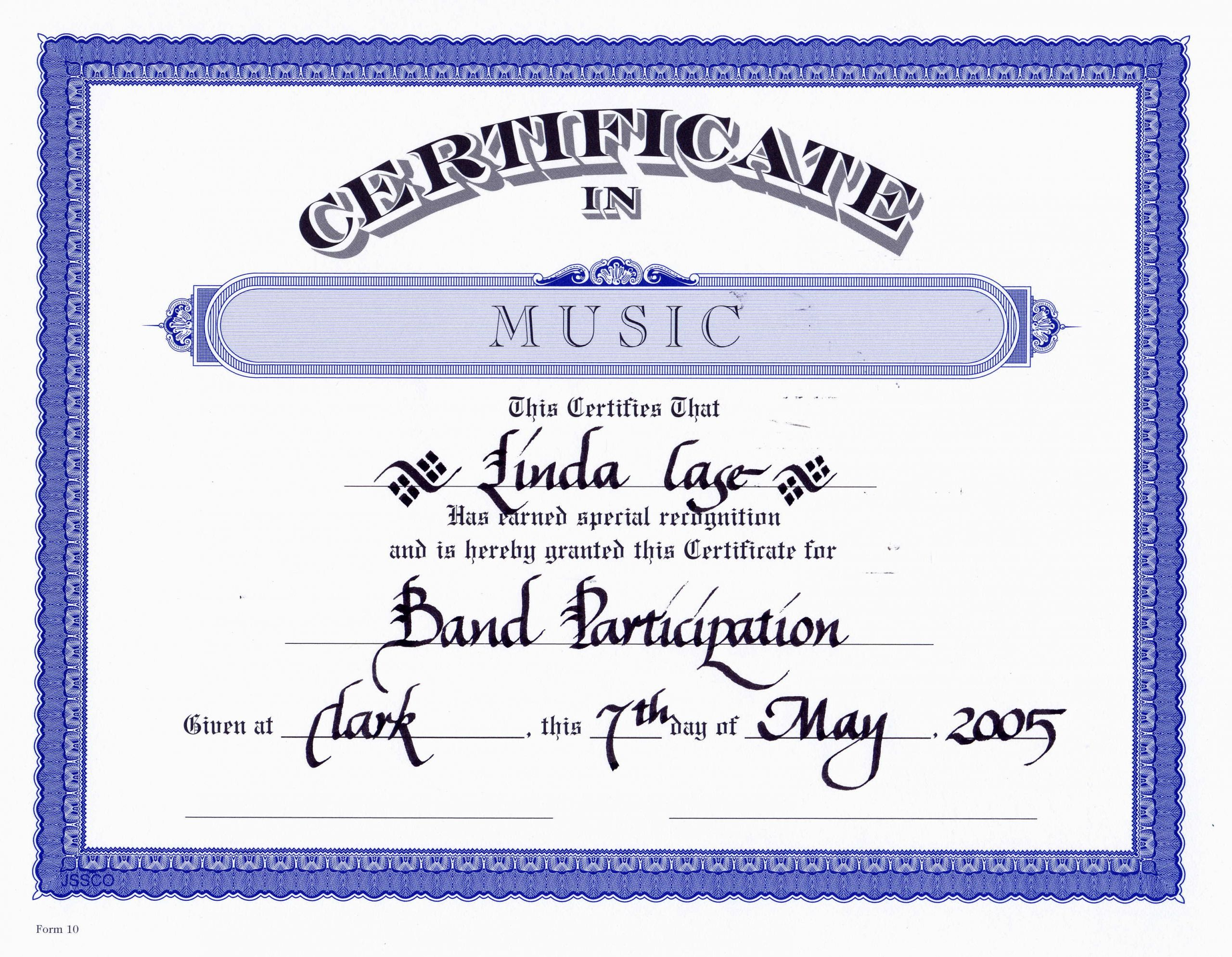 Free Music Certificate Templates Beautiful Certificate Templates Free Editable Music Certificate
