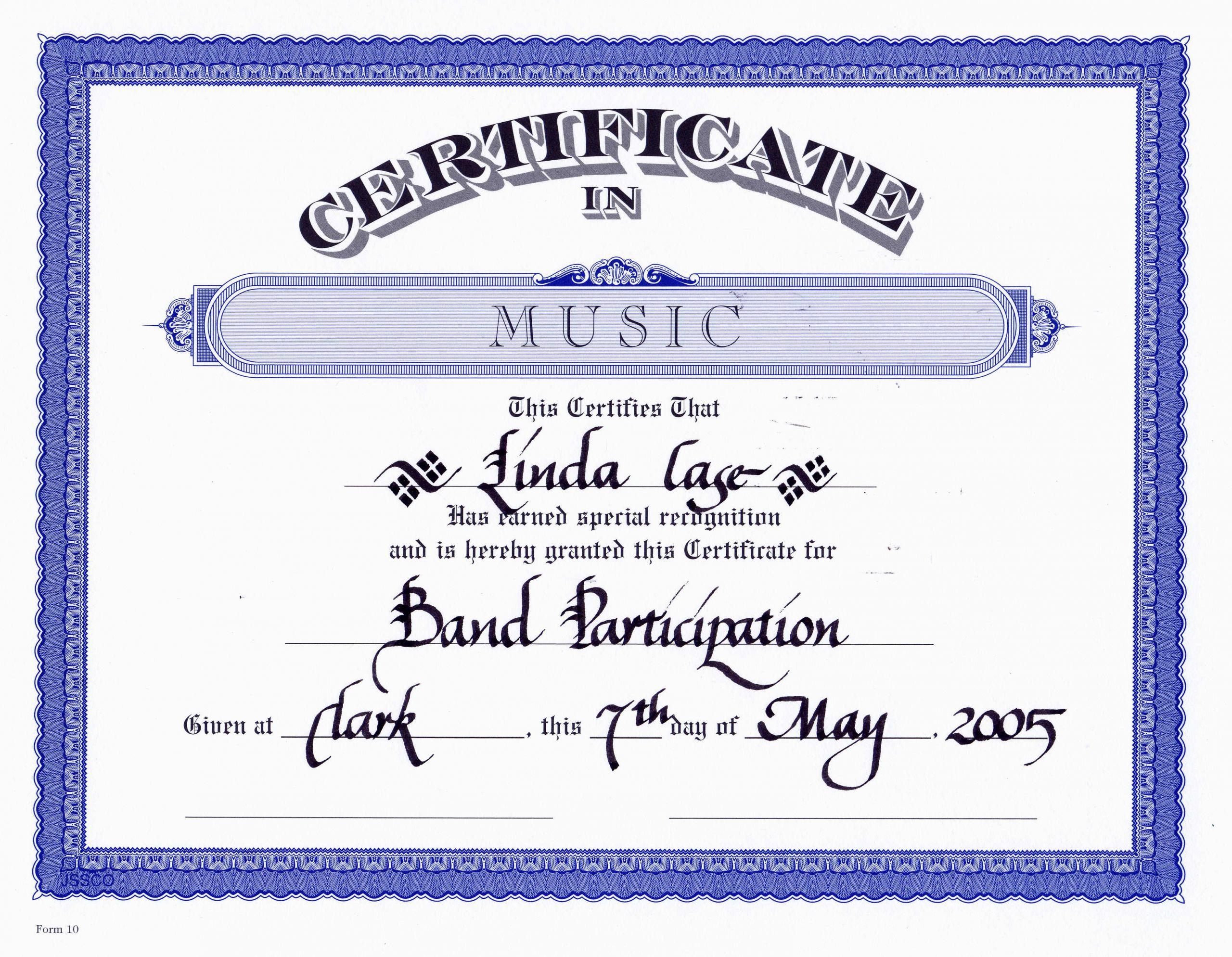 Free Music Certificate Templates Beautiful Certificate Templates Free Editable Music Certificate