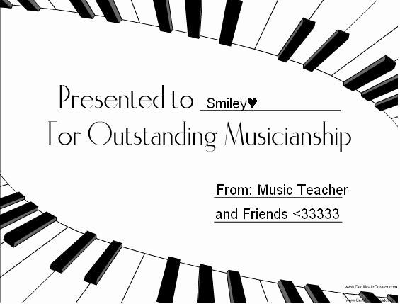 Free Music Certificate Templates Elegant Certificate Maker