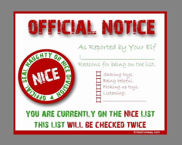 Free Nice List Certificate Template Awesome 8 Best Images About Nice List Certificate On Pinterest