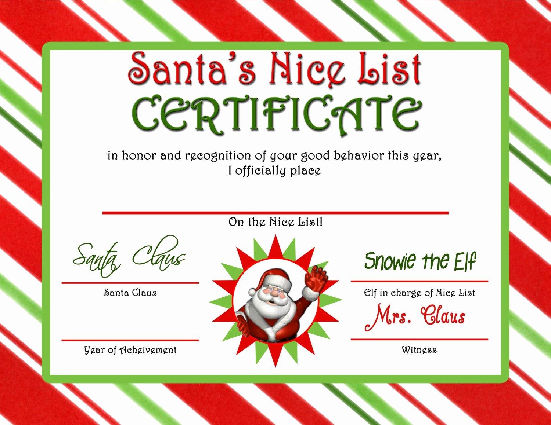 Free Nice List Certificate Template Elegant Letter From Santa & Nice List Certificate Instant