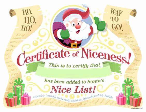 Free Nice List Certificate Template Lovely 15 Free Printable Letters From Santa Templates