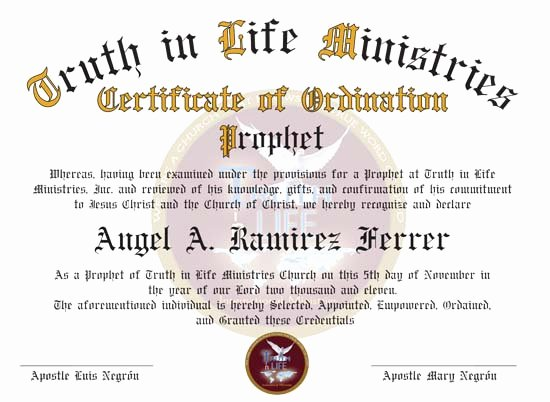 Free ordination Certificate Download Awesome Certificate ordination Free Printable Certificates