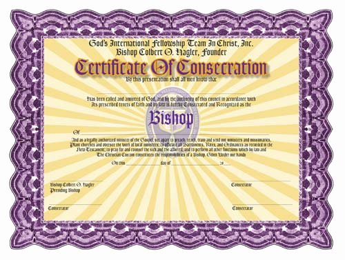 Free ordination Certificate Template Beautiful ordination Certificates for Your Church