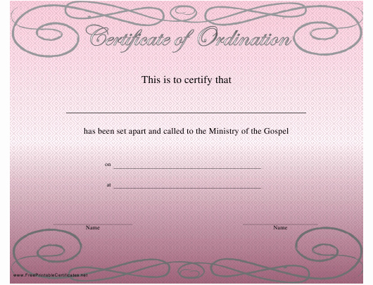 Free ordination Certificate Template Best Of ordination Certificate Template Download Printable Pdf