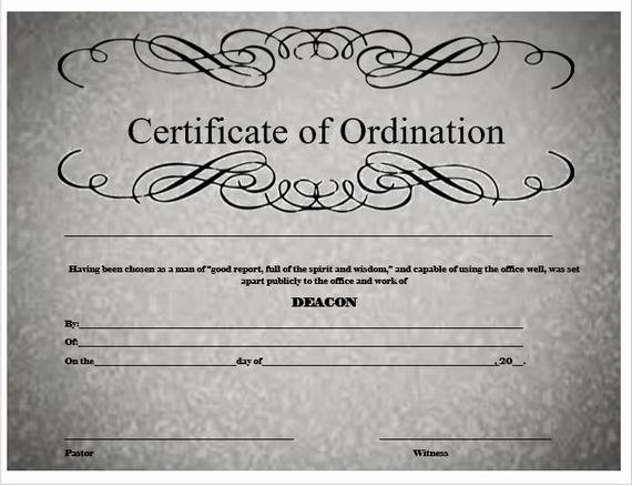 Free ordination Certificate Template Elegant Deacon ordination Certificate
