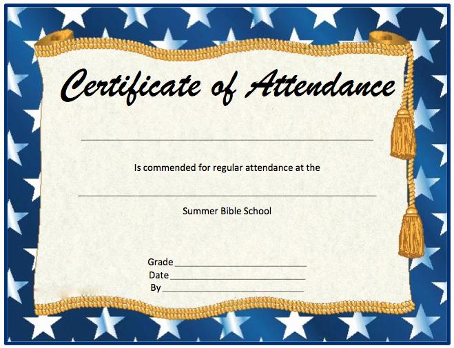 Free Perfect attendance Certificates Unique Perfect attendance Certificate Template Microsoft Word