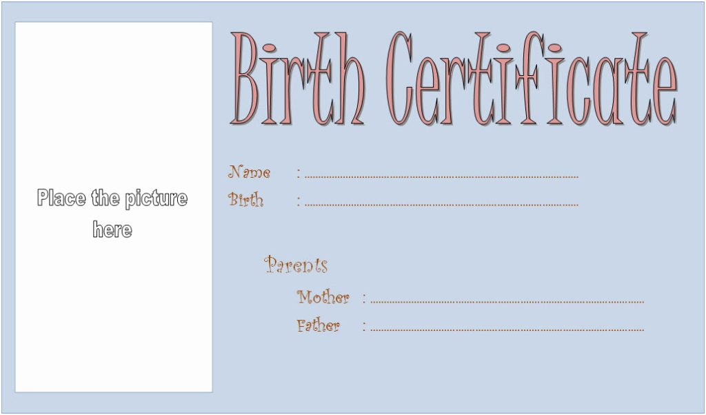 Free Pet Birth Certificate Template Best Of Dog Birth Certificate Template Editable [9 Designs Free]