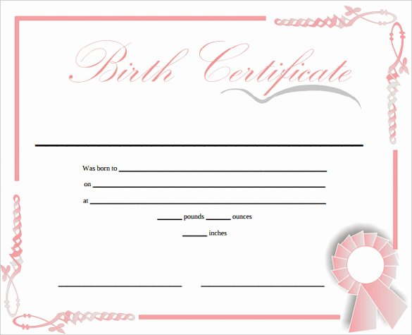 Free Pet Birth Certificate Template Fresh Free 6 Editable Ficial Puppy Hospital Birth Certificate