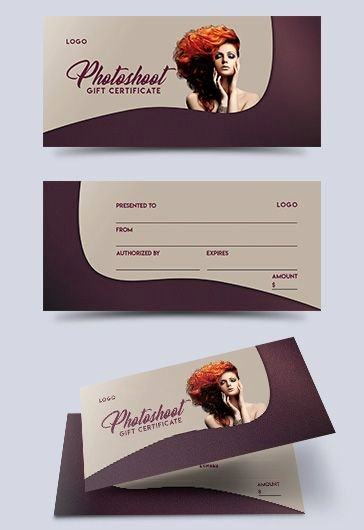 Free Photo Session Gift Certificate Template New Shoot – Free Gift Certificate Psd Template – by