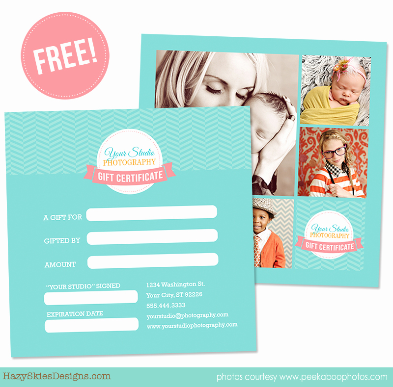 Free Photographer Gift Certificate Template Inspirational Free Gift Certificate Template for Graphers