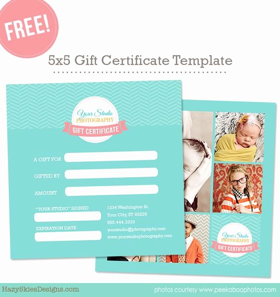 Free Photographer Gift Certificate Template Lovely Hazy Skies Designs – Digital Downloads Graphy