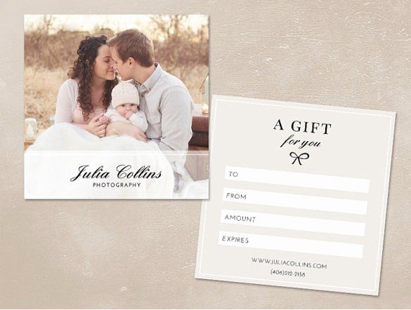 Free Photographer Gift Certificate Template Luxury Graphy Gift Certificate Template