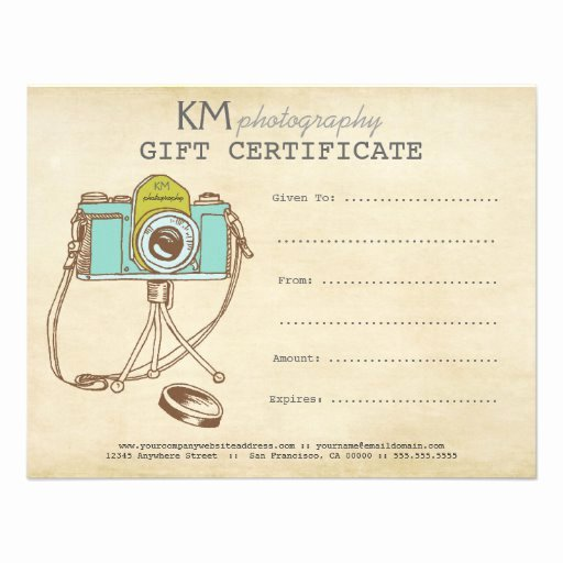 Free Photographer Gift Certificate Template New Grapher Graphy Gift Certificate Template 4 25x5