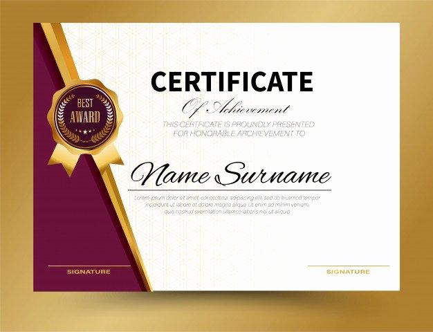 certificate template design a4 size