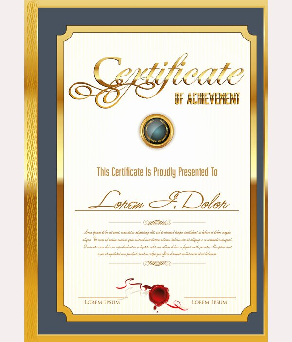 Free Photoshop Certificate Template Inspirational 64 Printable Certificate Templates Psd Ai Vector Eps