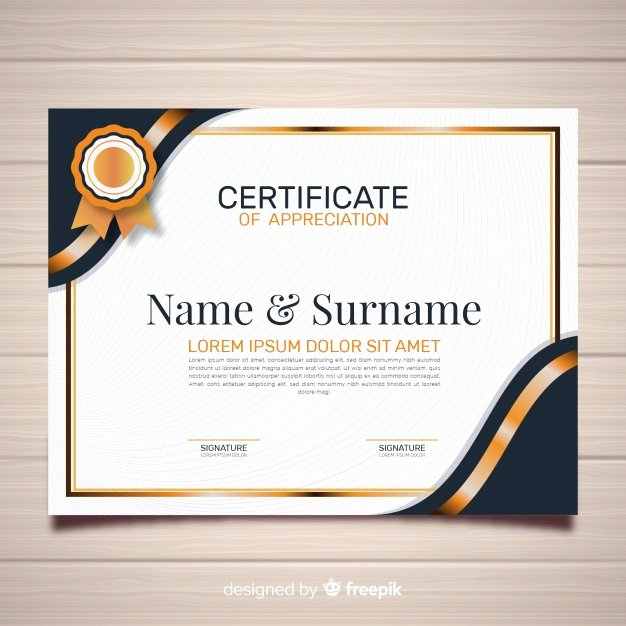 Free Photoshop Certificate Template Inspirational Creative Certificate Template Vector