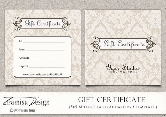 Free Photoshop Certificate Template Lovely Gift Certificate Shop Template Graphy Gift