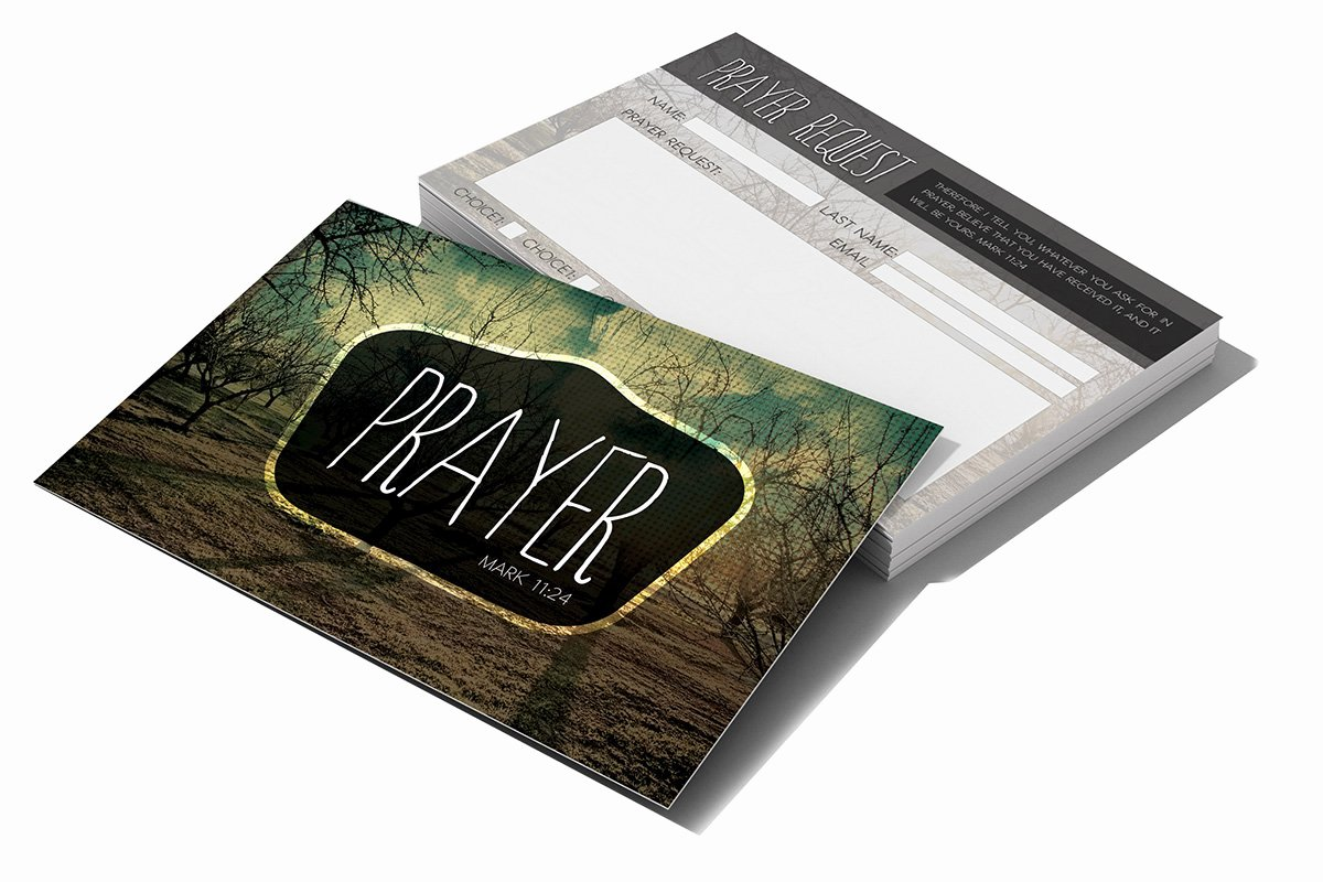 Free Prayer Request form Template Beautiful Prayer Request Card Card Templates Creative Market