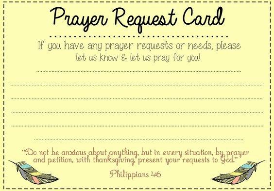 Free Prayer Request form Template Beautiful Prayer Request Card Ideas and Prayer On Pinterest